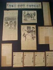 OLD ~FOOTBALL PLAYER SPORTS ARTICLES LOT~ ANTIQUE Newspaper Clippings Orig 1920s
