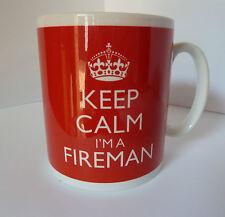 KEEP CALM I'M A FIREMAN MUG IN CARRY ON STYLE GIFT MUG PRESENT CHRISTMAS