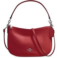 NWT COACH 56819 Chelsea Pebble Leather Red Currant Crossbody Shoulder Bag
