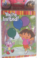 BIRTHDAY PARTY INVITATIONS KID DORA EXPLORER THEME CARDS 8 PACK C MY OTHER ITEMS
