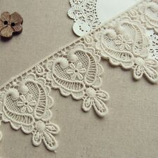 1yd Antique Style Embroidery Cotton Crochet Lace Trim 7.2cm Wide Lovely Heart