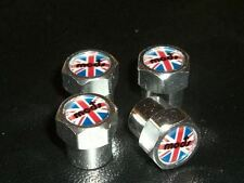 MODS UNION JACK FLAG SCOOTER OR CAR TYRE VALVE CAPS