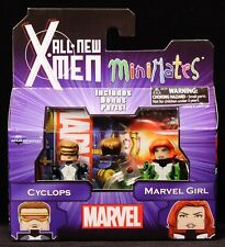 2014 MARVEL MINIMATES SERIES 59 ALL NEW X-MEN CYCLOPS & MARVEL GIRL FIGURES MIP
