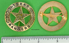 Souvenir Old West TEXAS RANGER CO A police law Badge GL