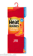 Ladies Original Heat Holders Thermal Boot Socks Plain Red 4-8 uk, 37-42, 5-9 us