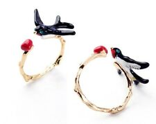 R271 Betsey Johnson 3D LOVELY Flying Pigeon Bird Swallow Swallows Ring  US