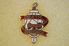 US USA Vietnam Death Before Dishonor Military Hat Lapel Pin