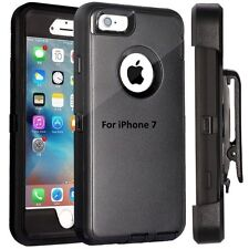 New Apple iPhone 7 Case Cover Black (Belt Clip fits Otterbox Defender)