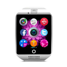 Q18 SIM TF Card Bluetooth Smart Watch Camera For Android Samsung iPhone White