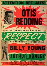 Music Poster Reprint Otis Redding Arthur Conley and Billy Young
