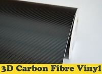3D Carbon Fibre Vinyl Wrap【All Meter Sizes】Black Air/Bubble Free