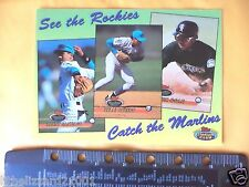 1993 TOPPS STADIUM CLUB BASEBALL FLORIDA MARLINS COLORADO ROCKIES POSTCARD