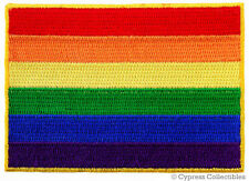 RAINBOW FLAG EMBROIDERED PATCH - GAY MARRIAGE RIGHTS LESBIAN LGBT PRIDE iron-on