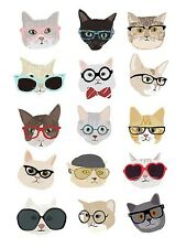 UNIQUE HIPSTER GIFT CATS WITH GLASSES ART PRINT kitty animal decor 12x16 poster