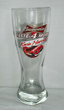"Budweiser Kevin Harvick Beer Drinking Glass Cup NASCAR 8.5"" Ltd Ed"
