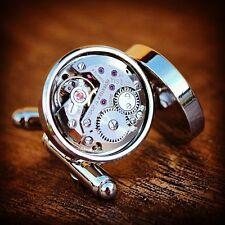 Reloj Tissot movimiento gemelos Steampunk De Colección Boda Novio Regalo Presente