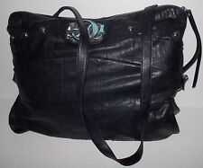 GUESS Black Studded GG logo Up Side Down Faux Leather Crossbody Med/Large Purse