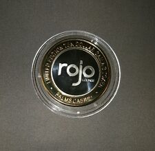 palms las vegas $10 silver strike - rojo lounge  token chip