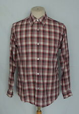 Vintage Issey Miyake Design Studio Plaid Rayon/ Poly Button Front Men's Shirt M