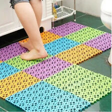 Practical Nice Plastic Non-slip Shower Bathroom Bath Mosaic Mat Good Quality E