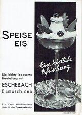 Eschebach Radeberg Prospekt Speiseeis Eismaschinen 1939