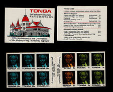 TONGA, SCOTT # 659B, BOOKLET OF CORONATION OF KING TAUFA'AHAU, 1987-1988, MINT