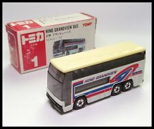 TOMICA #1 HINO GRANDVIEW BUS 1/154 TOMY DIECAST CAR MADE IN JAPAN ( BOX OLD )