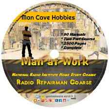 NRI Antique Radio Repair Course CD DVD Manuals Book Restoration Tubes Parts