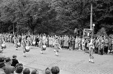 Negativ-Stuttgart-Volksfest-Umzug-Fanfarenzug-Musik-50er Jahre