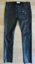 SAINT LAURENT PARIS  Herren Lederhose Leather Jeans Pants 50 52 32 34 36 NEW