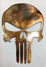 Punisher Skull   COPPER?BRONZE FINISH Metal Wall Art