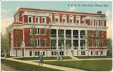 B.P.O.E. Club House in Billings MT Postcard