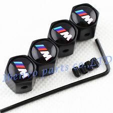 Anti-theft Black Metal Car Wheel Tyre Tire Stem Air Valve Cap For BMW M-Power