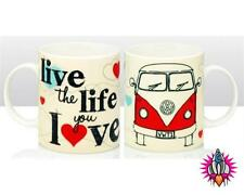 NEW OFFICIAL VW VOLKSWAGEN CAMPER VAN LIVE THE LIFE YOU LOVE TEA COFFEE CUP MUG