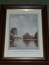Print circa 90 yrs old Eel Pie Island Twickenham also available unframed
