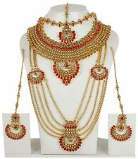 5129 Indian Jewelry Ethnic Bridal Necklace Bollywood Gold Traditional Fashion