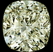 0.96ct (VS1)OFF WHITE YELLOW LOOSE CUSHION REAL MOISSANITE FOR RING/PENDANT