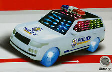 New Kids Children City Police Car Wagon Jeep Flashing Light Sound Music Toy Gift