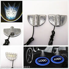 One Pair New 3D Transformers Decepticons Badge Car Door Welcome Projection Light