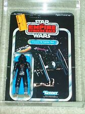 Vintage Star Wars 1980 AFA 75 TIE FIGHTER PILOT ESB CARD BACK MOC UNP CLR BUBBLE