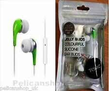 QUALITY CHEAP JELLY EARBUDS EARPHONES & IN LINE MICROPHONE HANDSFREE 4 IPHONE +