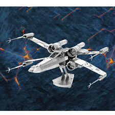 1PC Silvery X Wing Fighter Nano Stahl 3D-Puzzle Spielzeug  Jigsaw Geschenk MODEL