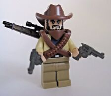 Lego Custom BANDIT GUNSLINGER Minifigure with Custom Accessories/Guns -Western
