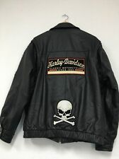 Harley Davidson Mens Black Classic Riding Leather Jacket SEE DETAILS
