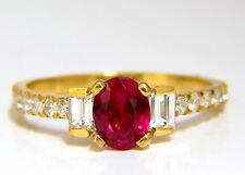 GIA Certified 1.92ct Natural Ruby Diamonds ring 18kt Vivid Red