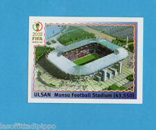 KOREA/JAPAN 2002-PANINI-Figurina n.14- ULSAN MUNSU FOOT. STADIUM -NEW BLACK BACK