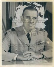 US Army Major General George R Mather in Uniform Press Photo