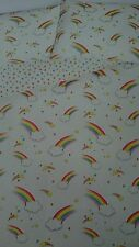 White Rainbows and Stars DOUBLE SIZE Duvet Set Cover NEW Red Yellow