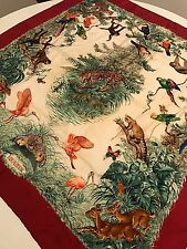 Hermes Paris silk scarf Equateur