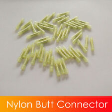(50) Nylon Wire Butt Connector Crimping Terminals 26-22 GA AWG Yellow  Unique